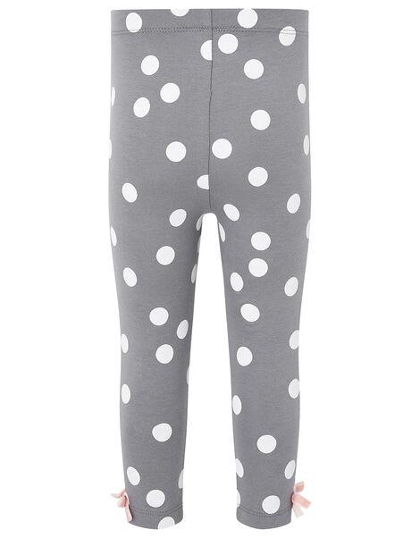 Organic Leggings in Pink or Dark Grey with Polka Dots