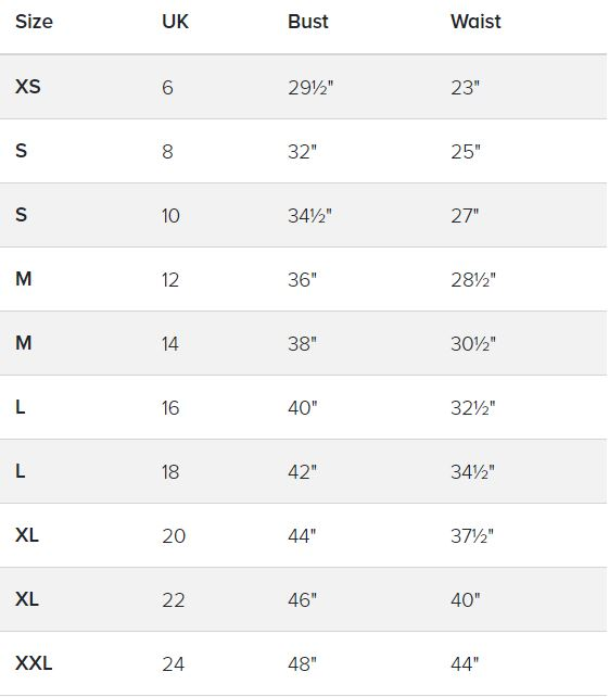 Tops Size Chart