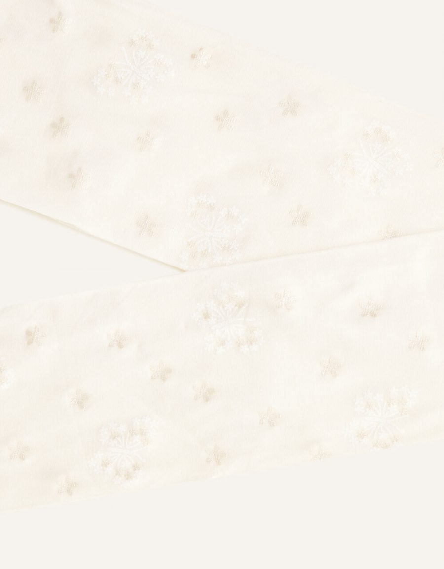 Butterfly print tights ivory2